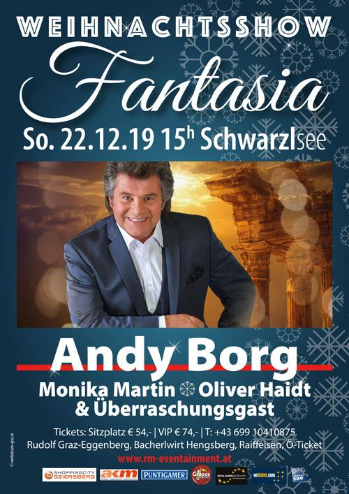 Weihnachtsshow Fantasia - Weihnachtskonzert mit Andy Borg 2019 in Graz